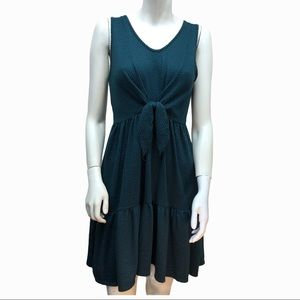 CAUTION TO THE WIND tie front sleeveless dress M